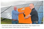 Local solar farm back on grid